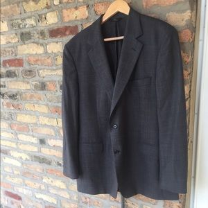 Brooks brothers 2 button grey checked suit blazer
